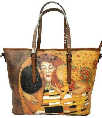 borsa quadri famosi opere il bacio di klimt fantasia dipinto spalla pelle arte