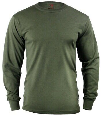 LS T-shirt OD Olive Drab Green Long Sleeve Cotton Polyester Blend Rothco 60118 Od-olive Drab