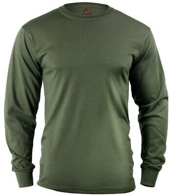 LS T-shirt OD Olive Drab Green Long Sleeve Cotton Polyester