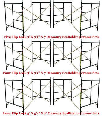"""6 Set Flip Lock Punch Hole 5' X 5'1"""" X 7' Masonry Scaffolding Frame CBM Scaffold"""