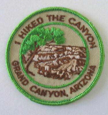 UNUSED VINTAGE I HIKED THE CANYON GRAND CANYON ARIZONA PATCH