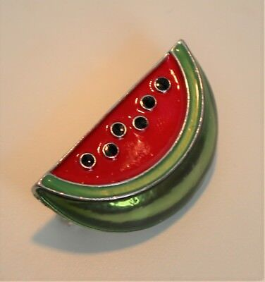WATERMELON SLICE BROOCH / MELON COSTUME PIN POP ART STYLE  - Water Melon Costume