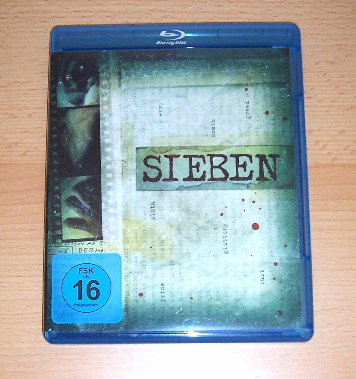 David Fincher's SIEBEN, Blu Ray, Brad Pitt, Morgan Freeman und Gwyneth Paltrow