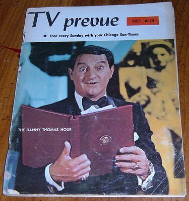 1967 CHICAGO TV PREVUE GUIDE~THE DANNY THOMAS HOUR