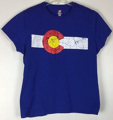 Womens Colorado T Shirt Xl Graphic Tee Hanes Nano Short Sleeve Cotton
