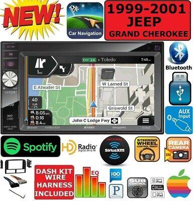 1999-2001 JEEP GRAND CHEROKEE GPS NAVIGATION BLUETOOTH CD/DVD CAR RADIO STEREO