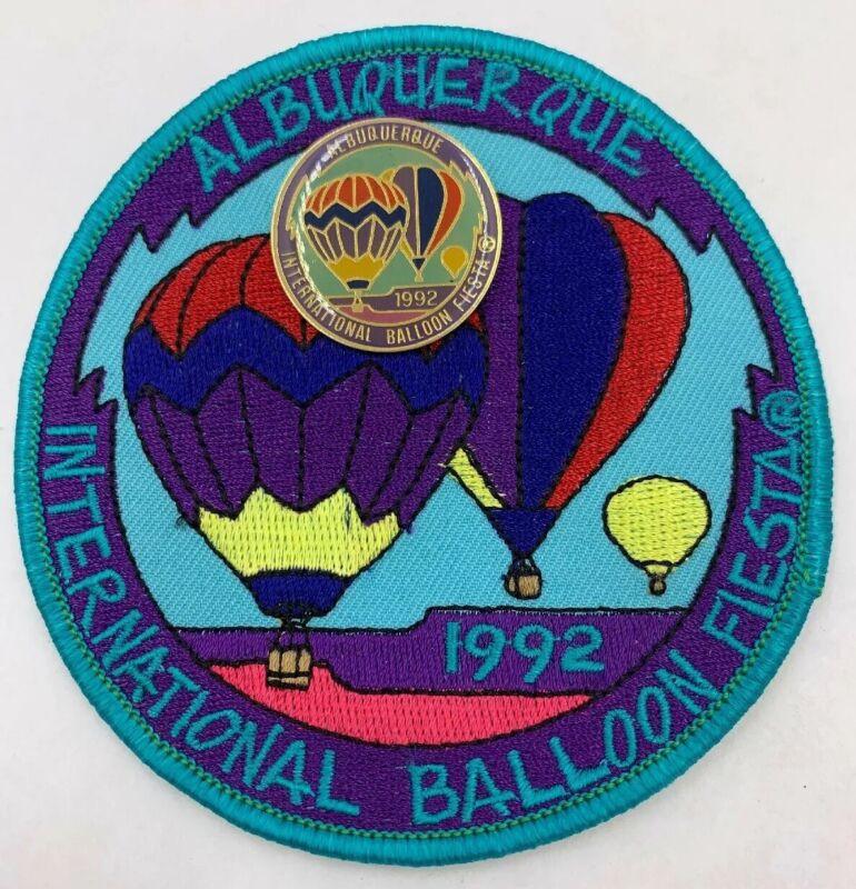 1992 Albuquerque Balloon Fiesta OFFICIAL Patch and Pin