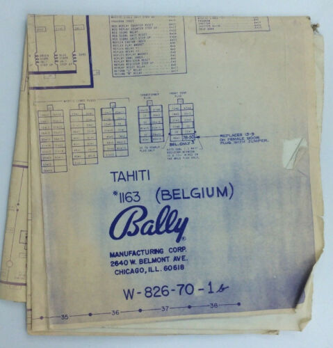 Bally Tahiti Blueprint Pinball Arcade