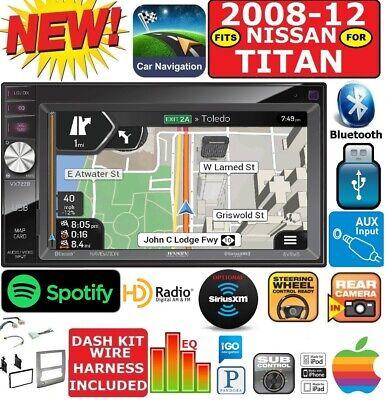 FITS/FOR 08-12 NISSAN TITAN GPS NAVIGATION SYSTEM BT USB CAR RADIO STEREO PKG