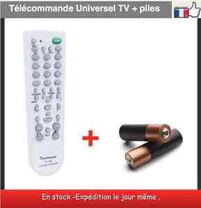 t l commande universel tv piles incluses universal tv remote ebay. Black Bedroom Furniture Sets. Home Design Ideas