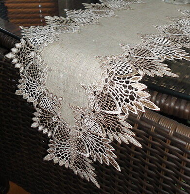 """65"""" Dresser Scarf Shelf Mantel Table Runner Doily FEATHER LACE"""