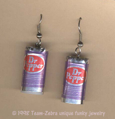 Funky Novelty Soda DR PEPPER CANS EARRINGS Punk Drink Food Charm Costume Jewelry](Dr Pepper Costume)