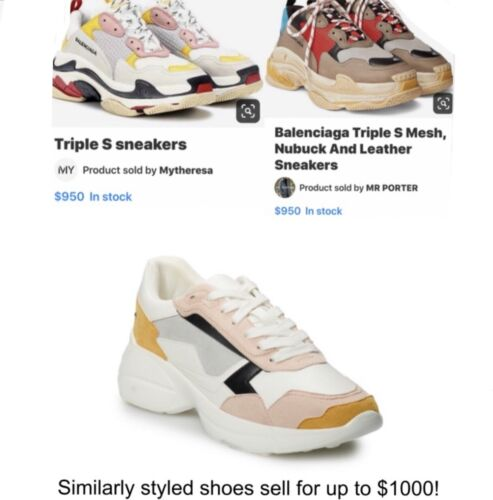 Steve Madden NYC Brighten Sneakers Made With Similar Style As Balenciaga Shoes