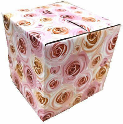 100 4x4x4 Rose Designer Boxes Corrugated Cardboard Box Shipping Cartons Mailer