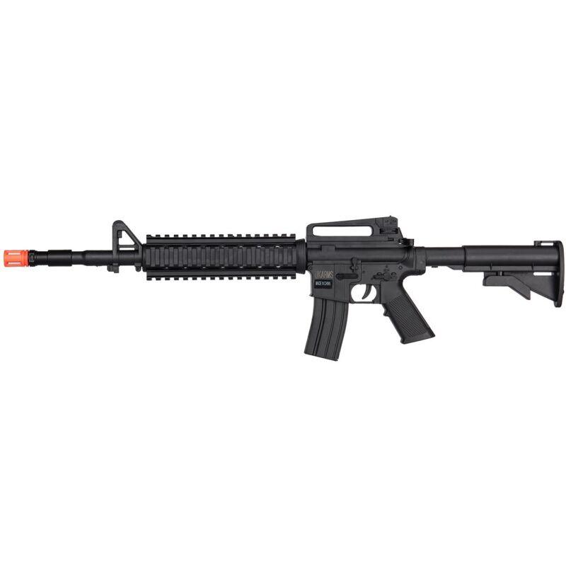 UKARMS M4 A1 TACTICAL SPRING AIRSOFT RIFLE GUN w/ QUAD RIS RAILS 6mm BB BBs M-16