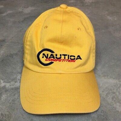 90s VTG NAUTICA COMPETITION J CLASS Strapback Hat Dad Cap Logo Sailing Gear