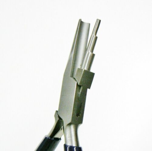 Forming Pliers 3 Step Three Round Nose & Concave Pliers for Wire Bending Looping