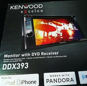 Monitor & DVD - Kenwood Excelon DDX393 Double Din Head Unit NEW