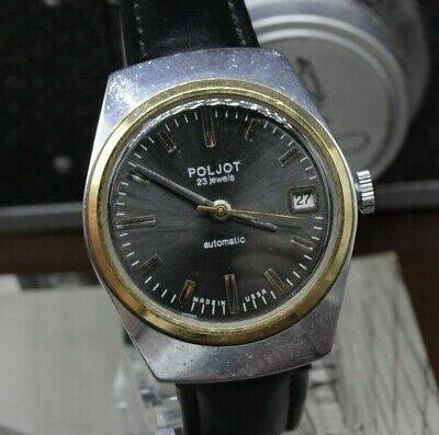 Vintage Unique Poljot 23 Jewels Mechanical Automatic Soviet Dress Watch PJ16