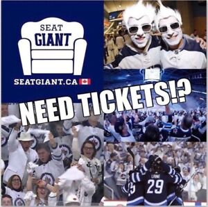 WINNIPEG JETS PLAYOFF TICKETS - ALL GAMES AVAILABLE!