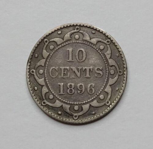1896 Newfoundland Canada Silver Dime 10 Cents