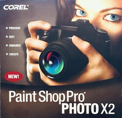 Corel Paint Shop Pro Photo X2 old version CD-ROM Works on Windows 10,7,Vista,XP