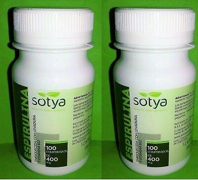 Spirulina 400 Mg. 2x100 Tabletten Sotya