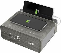 Ion Charge Time Plus Alarm Clock Speaker w/ Wirless Charging Pad iPhone/Android