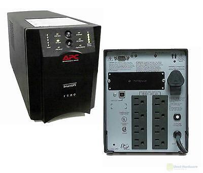 APC SUA1500 1500VA 980W 120V SMART-UPS POWER BACKUP TOWER USB  NEW BATTERIES--