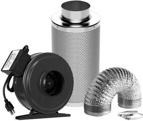 "VIVOSUN Air Filtration Kit 6 ""440CFM Inline Fan,Carbon Filter 16ft of Ducting"