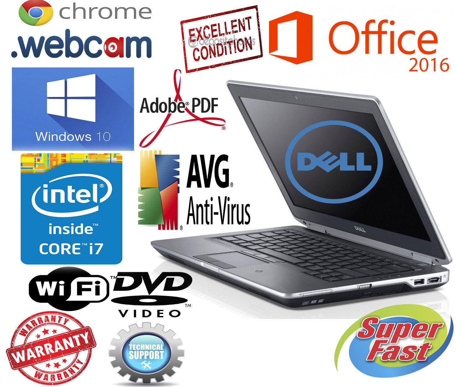 $289.88 - DELL LATITUDE Laptop Computer PC CORE I7 Windows 8GB PRO OFFICE WiFi NOTEBOOK HD