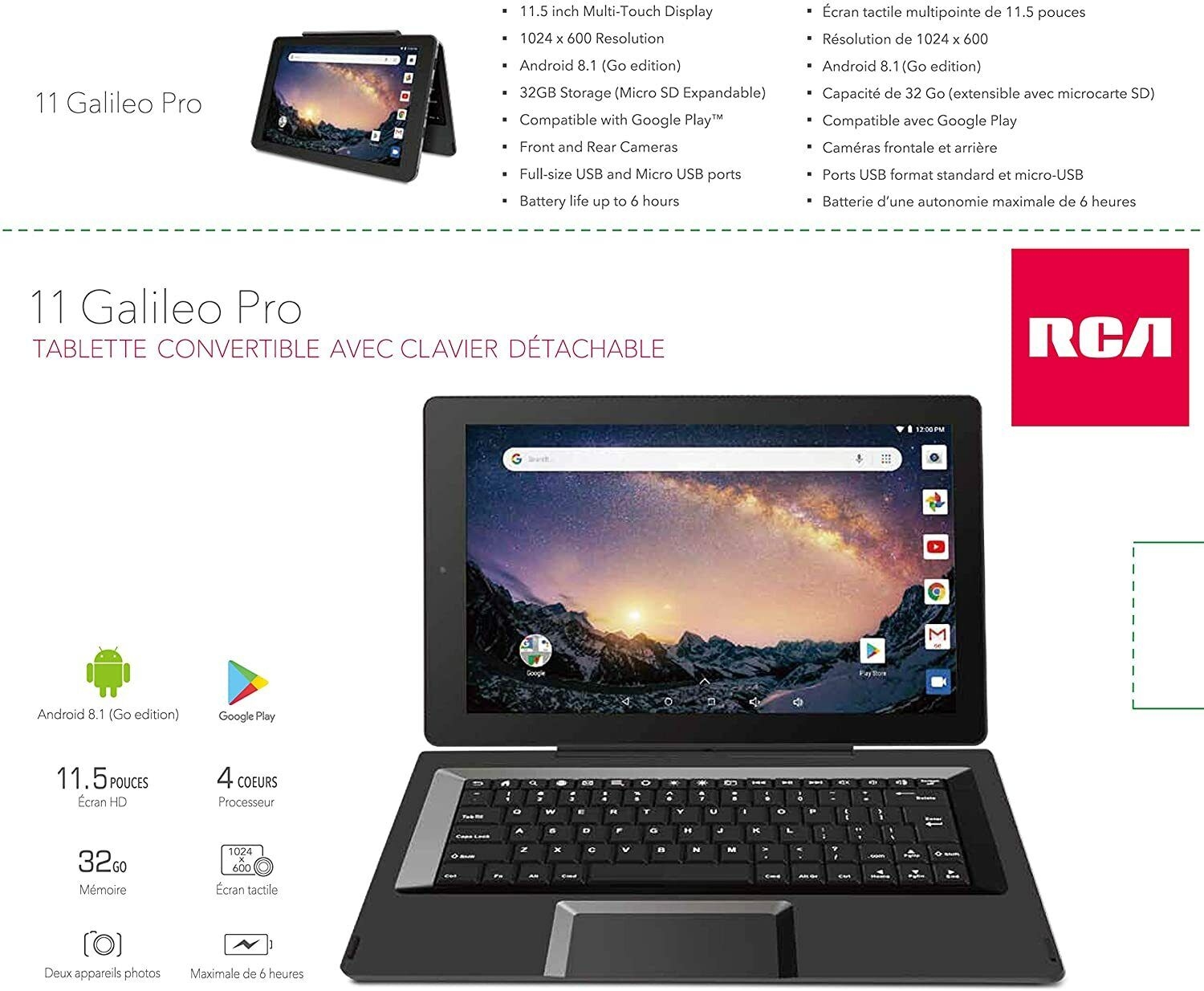 2-1 Tablet PC Laptop Computer 2-n-1 Touchscreen 2-in1 Computer/Tablet On Sale HD