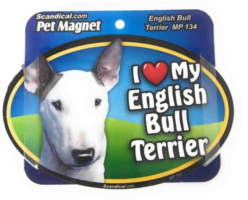 I LOVE MY ENGLISH BULL TERRIER  Magnet Gifts, Cars, Trucks. Lockers