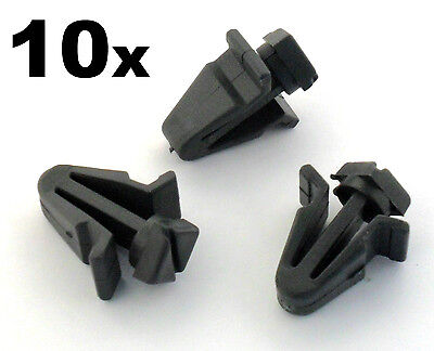 10x Plastic Trim Clips- For Radiator Grilles, Front Grill clips on some Nissans