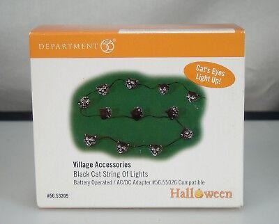 Dept 56 Halloween Black Cat String of Lights Village Accessories 56.53209 - Black Cat Accessories Halloween