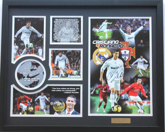 New Cristiano Ronaldo Signed Real Madrid Limited Edition Memorabilia