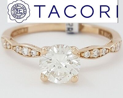 1.13 ct Sculpted Crescent TACORI 18K Rose Gold Round Diamond Engagement Ring  ()