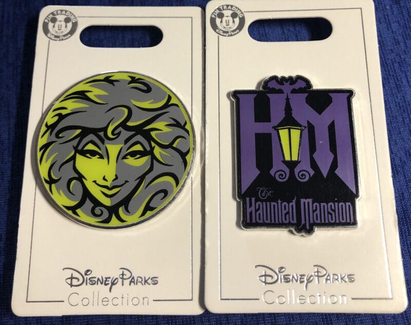 Disney Parks Haunted Mansion Madam Leota And Logo 2 Pins