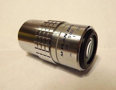 Usmc M Plan Apo 2x0.55 Microscope Objective 200mm Infinity Mitutoyo Seiwa