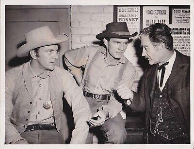 Circa 1957  Gunsmoke James Arness , Dennis Weaver, Milburn Stone TV Photo