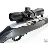 HUNTING 4x32 Rifle Scope Mildot Reticle w-Rings & Ruger 10/22 Base Rail Mount.