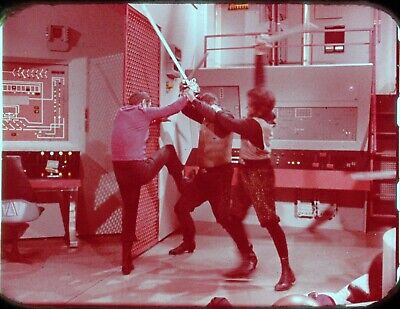 Star Trek TOS 35mm Film Clip Slide Day of the Dove Scotty Fights Klingons