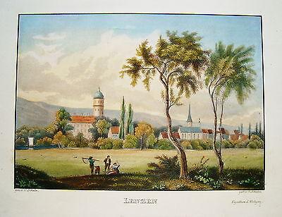 Lenzen  Brandenburg sehr seltener Stahlstich 1845