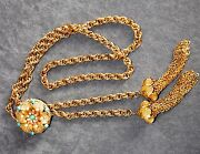 Vintage Turquoise Gold Necklace
