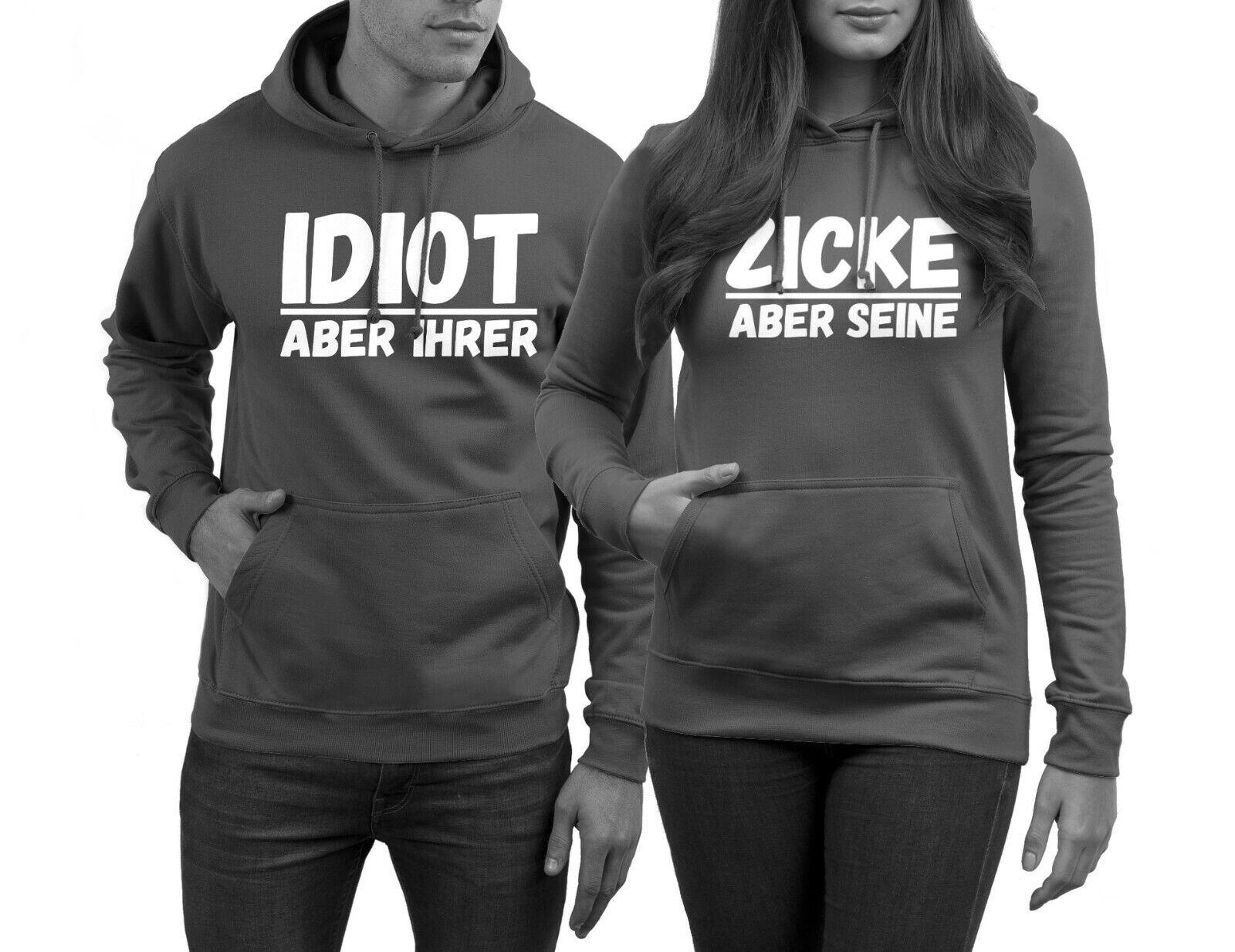 Idiot Zicke Pullover für Paare 2 Stück Hoodies Pärchen im Set Paar Pullover NEU