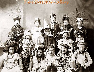 Kids In Halloween Costumes (Kids in Halloween Costumes - 1890 - Historic Photo)