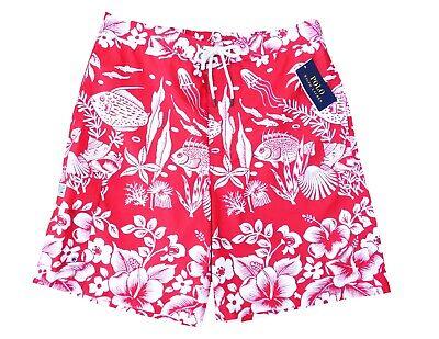 Polo Ralph Lauren Kailua Trunk Beach Short / Badeshort / Badehose M rot Neu