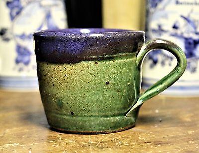 Beautiful Handmade Vintage Pottery Stoneware Mug - Glazed  Signed - Earthenware