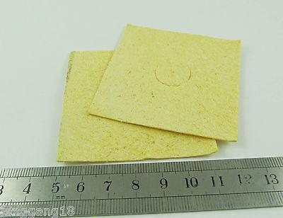 Yellow Soldering Iron Tip Welding Cleaning Cleaner Sponge For Hakko 936 6060mm