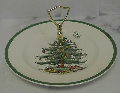 Spode Christmas Tree Pattern Made in England Single Tier Ceramic Serving Plate Spode Ceramic Plates